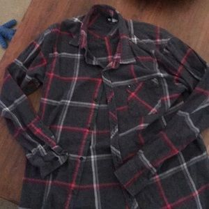 Other - Rip Curl Large Button Up Flannel Gray